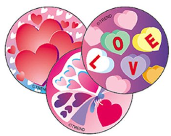 Trend Enterprises Valentine's Day (Cherry) Round Stinky Stickers, Large (T-928)