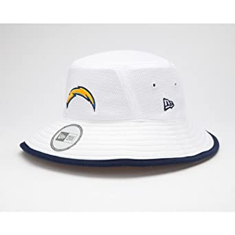 NFL San Diego Chargers Training Camp Bucket Hat, White, One Size Fits All by New Era