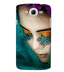 Printvisa Girl With Green Eyelashes Back Case Cover for Samsung Galaxy Mega 5.8 i9150::Samsung Galaxy Mega 5.8 i9152