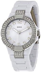 GUESS Women's W11611L1 Prism White Dial Watch