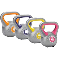 Buy DKN 2 4 6 and 8kg Vinyl Kettlebell Weight Set -image