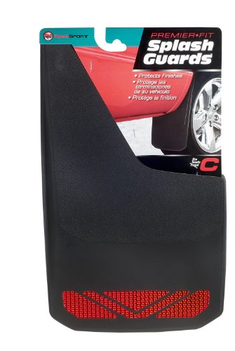 RoadSport 4326 'C' Series Universal Fit Premiere Splash Guard (Black with Red Prism; 18