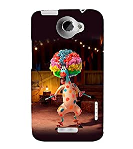 printtech Madagascar Zebra Clown Back Case Cover for HTC One X::HTC One XT::HTC 1X
