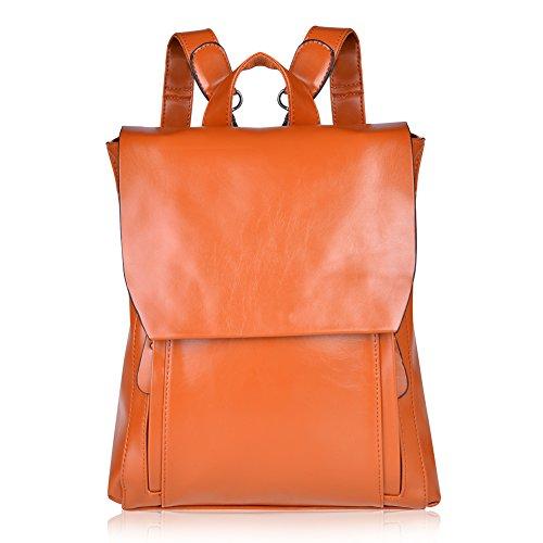 VBIGER リュック メンズ レディース 本革 リュックサック 通学 通勤 旅行 高校生 中学生 鞄 バッグ 3WAY バックパック (ブラウン)