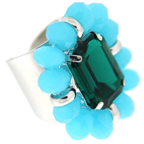 Sweet Deluxe Damen-Ring Anna silber/blau/braun 00936