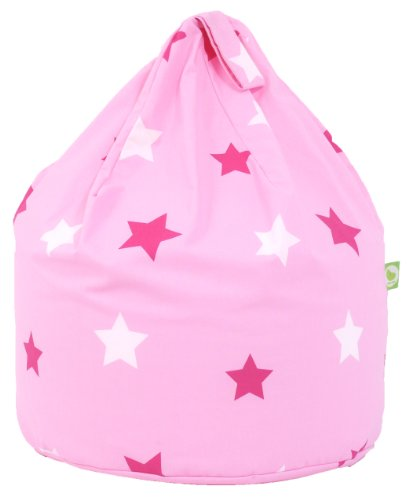 Cotton Pink Stars Bean Bag Child Size