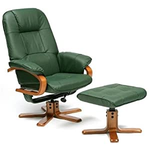 2PC Modern Vibrating Shiatsu Massaging Recliner Chair With Ottoman