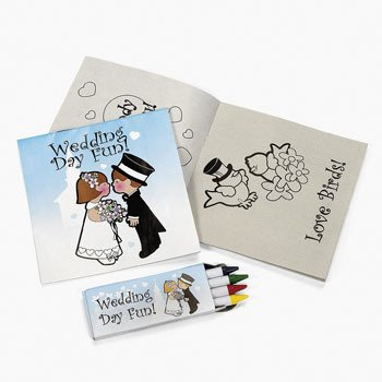 Buy Discount 12 pack of Individually Packaged Children's Wedding Activity Sets