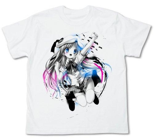 クドわふたー ジャンピングクドリャフカ Tシャツ ホワイト サイズ:L