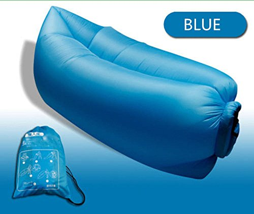 [Fast Inflatable Air Hangout Lay Bag Sofa Outdoor Beach Camping Sleeping Lazy Bed (Blue)] (Yup Yups Costume)