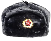Hat Russian Soviet Army Air force Fur Military Ushanka * GR * Size XL