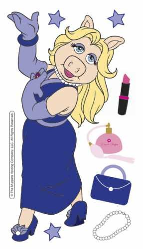 EK Success Disney The Muppets Dimensional Stickers-Miss Piggy - 1