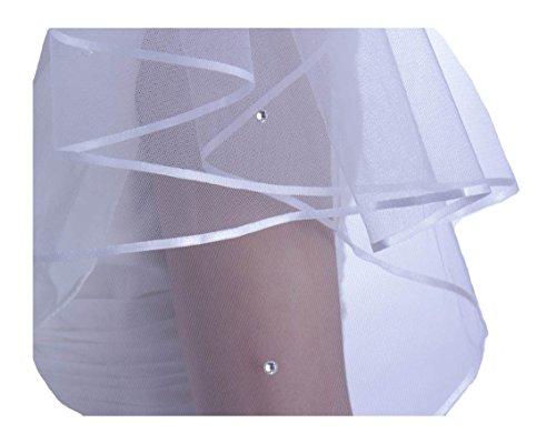 Rose 2-tier Bridal Veil Austrian Crystal Rhinestones 32