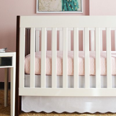 Oliver B 2-Piece Crib Bedding Set- Dove Grey and Pink - 1