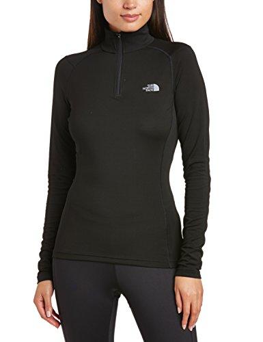 the-north-face-w-warm-l-s-zip-neck-camiseta-para-mujer-color-negro-talla-m