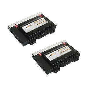 Amsahr CLP510D7K Samsung CLP510D7K, 510n Remanufactured Replacement Toner Cartridge with Two Black Cartridges