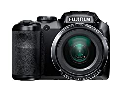 Fujifilm S6800 Finepix Point and Shoot Camera (Black) with 30x Optical Zoom