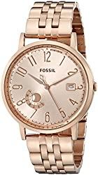 Fossil Women's ES3789 Vintage Muse Rose Gold-Tone Stainless Steel Watch