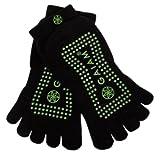 Gaiam Grippy Yoga Socks, Fern Green, Small/Medium