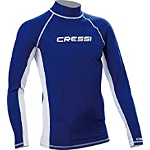 Cressi MEN'S LONG SLEEVE RASH GUARD, Adult Rash Guard For Swimming, Surfing, Diving - Cressi: Quality Since 1946