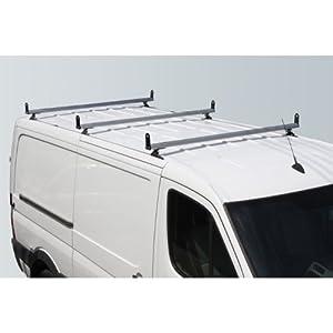 """White H3 3 Bar ladder roof rack w/ Sides 65"""" Bars for 07-On Sprinter"""