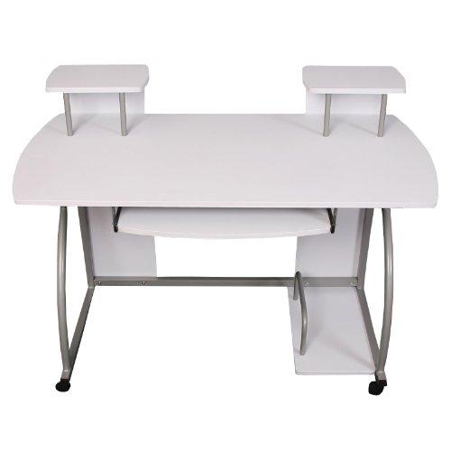 Jugend-Schreibtisch Computertisch Bürotisch Ohio, ca 90x115x55cm ~ weiß jetzt bestellen
