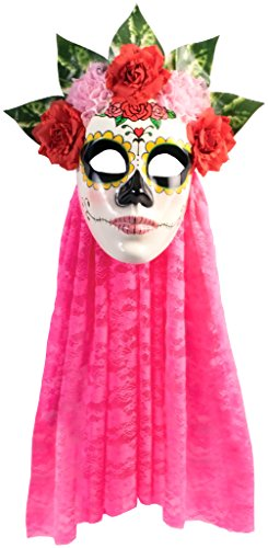 Forum Novelties Women's Day Of The Dead Senora Rose Mask