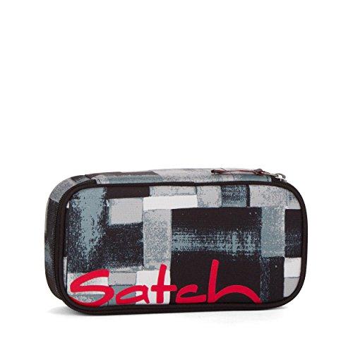 satch - Die Original Schlamperbox inklusive Geodreieck: City Fitty (Schwarz Grau Melange)