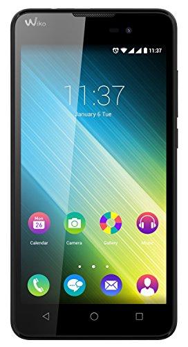 Wiko 9541 Lenny 2 Smartphone (12,4 cm (5 Zoll) IPS-Display, 1,3 GHz Quad-Core Prozessor, 8GB interner Speicher, 1GB RAM, Android 5.1 Lollipop) schwarz