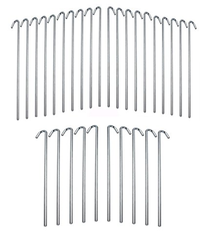 lowes 30 piece galvanized steel tent pegs garden stakes