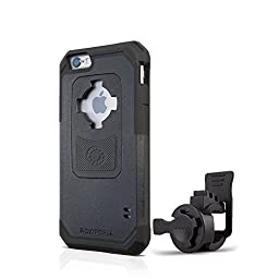 Rokform iPhone 6/6s Sport Series Quad Tab, Twist Lock, Universal Bar Mount holder kit for Bikes, Strollers and more with iPhone 6/6s rugged protective case