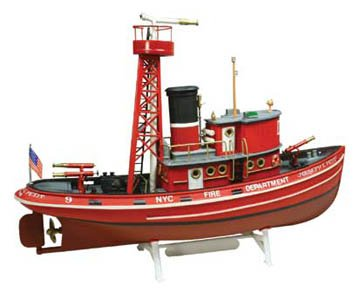 Lindberg 1/72 Fire Boat Model Kit
