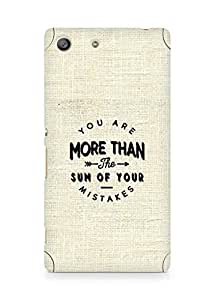 AMEZ you are more than the sum of your mistakes Back Cover For Sony Xperia M5