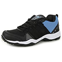 Trase SRV Men's Track Black/Blue Sports Running Shoe