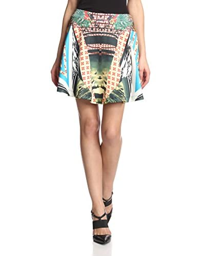 Romeo & Juliet Couture Women's Printed Scuba Skirt