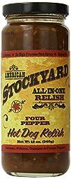 American Stockyard Four Pepper Hot Dog Relish, 12 Ounce