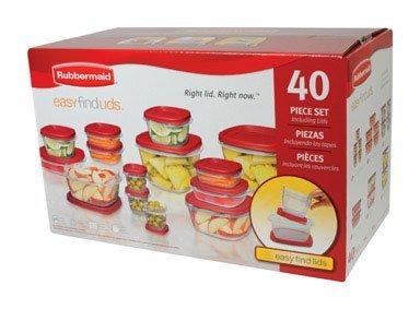 Rubbermaid Easy Find Lid Food Storage Set, 40-Piece