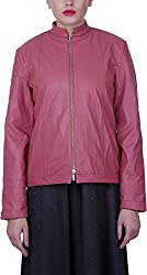 Baba Rancho Women's Regular Fit Jacket (Lj 00209_S, Pink, S)