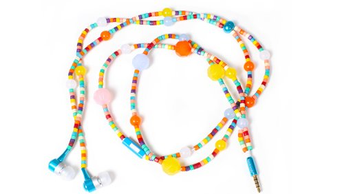 Handcandy Hf002Ln The Mambo Ladybuds Stereo Headphone Necklace, Multi Bright/Pastel