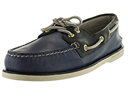 Sperry Top-Sider Men\'s Gold Authentic Original Blue/Navy/Gold Boat Shoe 10 Men US