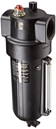 """Dixon L17-B00A Norgren Series Micro-Fog Lubricator with Metal Bowl and Sight Glass, 1"""" Size, 275 SCFM, 1-1/2"""" Port Size, 250 PSI"""