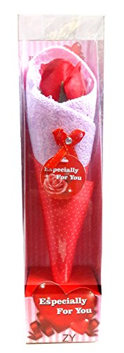 Gifts OnlineTMBeautiful Rose Neatly Packed In A Towel- Best Gift on Valentine's Day, Rose Day