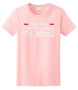The Best Get Promoted to Mimi, New Grandma Gift Ladies T-Shirt Large Light Pink