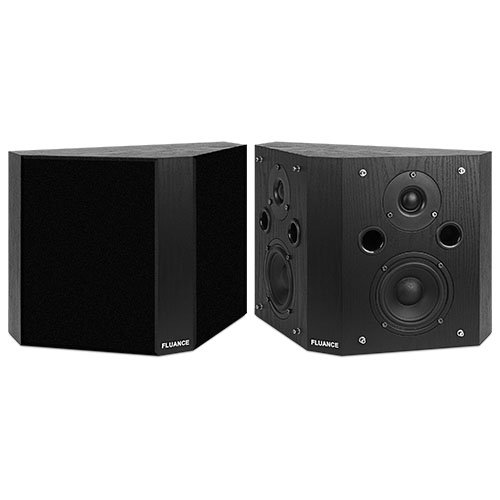Fluance SXBP-BK High Definition Bipolar Surround Sound Wide Dispersion Speakers for Home Theater