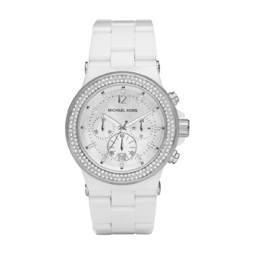 Michael Kors Ladies Watch MK5391 With Mop Dial And White Ceramic Dial