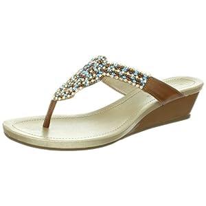 Bandolino Women's Bayard Sandal,Natural Suede,7.5 M US