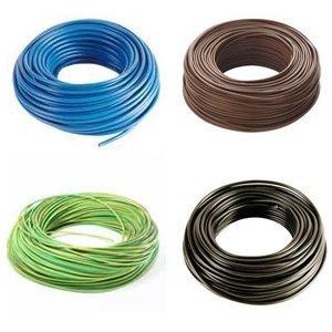 Filo elettrico unipolare da 1 5mm vari colori matassa 100 metri illuminazione - Colori cavi elettrici casa ...