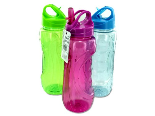 Bulk Buys HB410 Sports Bottle with Flip Straw Case of 48 (Sport Bottles Bulk compare prices)