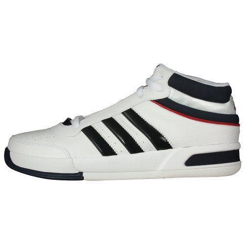adidas Men's Top Ten Lt Basketball Shoe,White/Indigo/Red,13.5 M