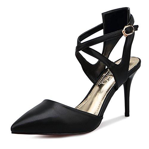 Parole sangle à boucle/la bouche peu profonde sandales Baotou/occupationOLtalons pointus/Chaussures Sexy